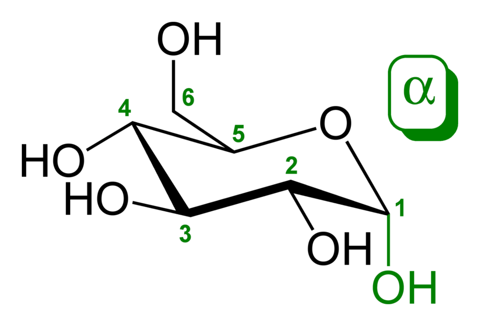Alpha-D-glucopyranose-2D-skeletal