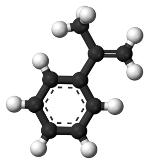 Alpha-Methylstyrene - Image: Alpha Methylstyrene 3D balls