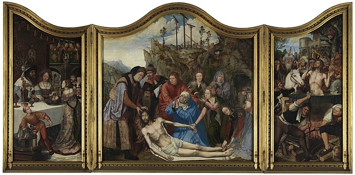 Altarpiece of the carpenters guild, Quinten Massijs, (1511), Royal Museum of Fine Arts Antwerp, 245-248