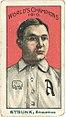 Amos Strunk, Philadelphia Athletics, baseball card portrait LCCN2007683829.jpg