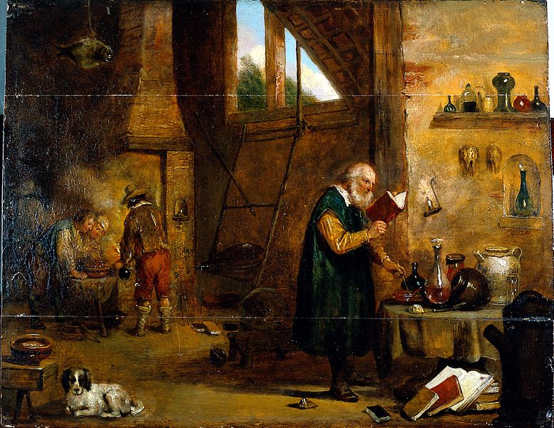 File:An alchemist in his laboratory. Oil painting by a follower o Wellcome L0018022.jpg