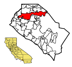 Location of Anaheim within Orange County, California