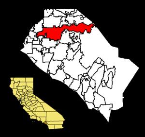 Anaheim map in Orange County