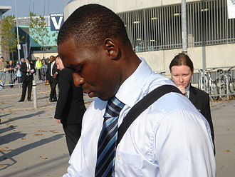 Andy Cole - Cole signing autographs outside the City of Manchester Stadium, October 2005