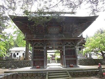 安国寺の楼門。