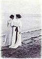 Anna Ancher og Marie Krøyer på Skagens Sønderstrand Foto af P.S. Krøyer.jpg