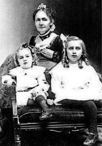 Grandma Moses - Anna Mary Robertson Moses with two of her children