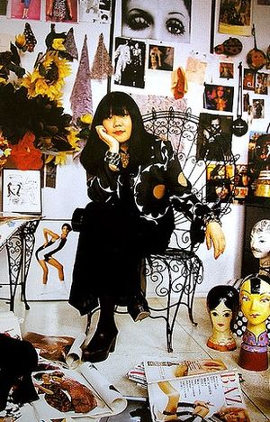 Anna Sui - Anna Sui at her New York City office