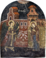 Annunciation Fresco on the Western Wall of Apostles Church in Veria.png