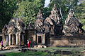 Another view of the main temple at Banteay Srei, its small compared to other temples (4187676057).jpg