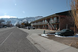 National Register of Historic Places listings in Grand County, Utah - Image: Apache Motel Moab Utah