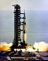 Apollo 15 Saturn V builds thrust prior to lift-off.jpg