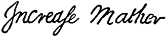 Increase Mather - Image: Appletons' Mather Richard Increase signature