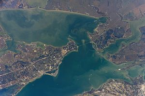 Aransas Bay - Image: Aransas Bay from space