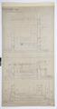 Arbetsritning, fastigheten nr 4 Hamngatan. Trappan mellan kontoret och vinden - Hallwylska museet - 105286.tif