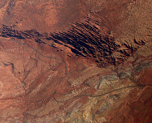 Fiery Furnace (Arches National Park) - Image: Arches National Park aerial Fiery Furnace (cropped)