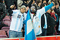 Argentinian supporters – Portugal vs. Argentina, 9th February 2011 (1).jpg