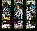 Armagh Roman Catholic Cathedral of St. Patrick East Aisle Window 03 Death of St. Malachy Detail Lower Scene 2013 09 24.jpg