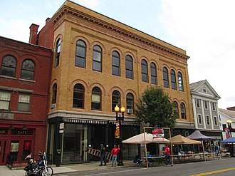 National Register of Historic Places listings in Berkshire County, Massachusetts - Image: Armory Block, Adams MA