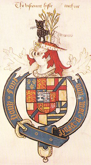 Arthur Plantagenet, 1st Viscount Lisle - Image: Arms Of Arthur Plantagenet Viscount Lisle