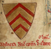 Arms of Richard, count of Clare referring to his knighting.png