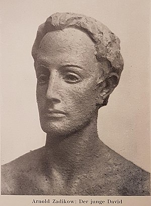 Jewish Museum, Berlin - Arnold Zadikow's celebrated lost sculpture of The Young David that was placed in the entrance of the Museum in 1933