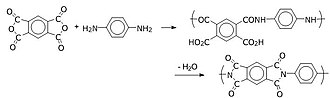 Step-growth polymerization - Image: Aromatic polyimide