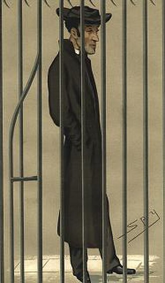"Arthur Tooth - ""The Christian Martyr"" Tooth as caricatured by Spy (Leslie Ward) in Vanity Fair, February 1877"