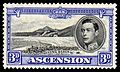 Ascension 1938 3p ultramarine Long Beach stamp.jpg