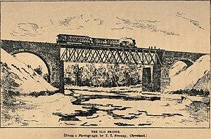 Ashtabula River railroad disaster - The iron bridge before collapse