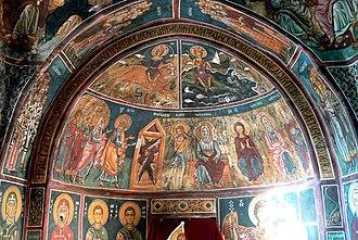 Nikitari - Image: Asinou Kirche Narthex 1 Paradies