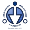 Association of Inclusionist Wikipedians - Finnish (2016).png