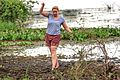 At Possa da Londra in the Brazilian Patanal (105m) - wading through the mud to catch a Piranha - are you having fun yet, Tracey? - (24215316313).jpg