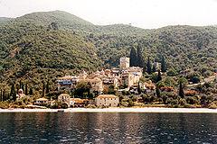 Il Monastero di Dochiariou, sulla costa occidentale del Monte Athos