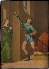 Saint Julian the Hospitaler Meeting His Wife after Killing His Parents