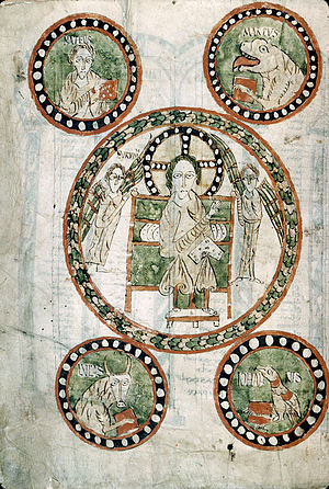Merovingian illumination - Image: Autun ms 3 12v