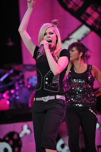 The Best Damn World Tour - Lavigne performing in Amsterdam, Netherlands.