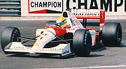 Ayrton Senna won his third and final world championship in 1991, driving for McLaren.