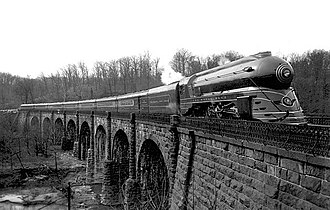 Thomas Viaduct - The Royal Blue on the Thomas Viaduct, Relay, Maryland, in 1937