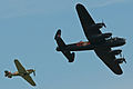 BBMF Lancaster & Hurricane - Flying Legends 2013 (9304454190).jpg