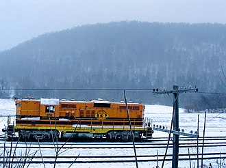 Buffalo and Pittsburgh Railroad - Image: BPRR 203 in the snow 105635575