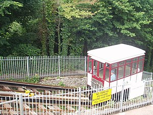 Babbacombe Cliff Railway - A car of the cliff railway
