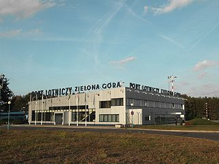 airport serving the city of Zielona Góra, located near Babimost