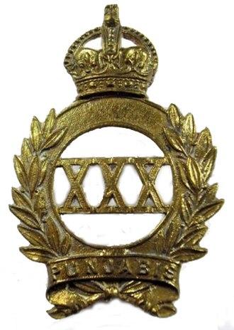 30th Punjabis - Image: Badge of 30th Punjabis