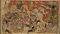 Balami - Tarikhnama - The innocent among the Banu Isra'il kill the worshipers of the golden calf (cropped).jpg