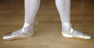 Positions of the feet in ballet - Second position