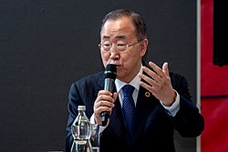 Ban Ki-Moon speaking at the Empowerment of Women and Youth event - 2018 (42469754820)