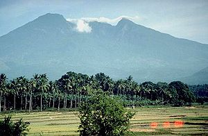 Complex volcano - Mt. Banahaw, Luzon, Philippines in 1989