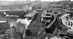Bangor (Gwynedd) railway station - Bangor station in 1961