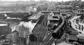 Bangor railway station (Wales) - Bangor station in 1961